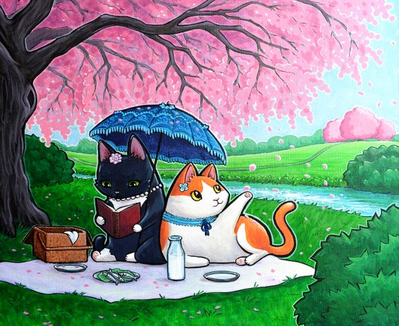 Kitties' Hanami